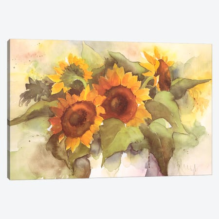 Flower Composition IV Canvas Print #HEI7} by Franz Heigl Canvas Print