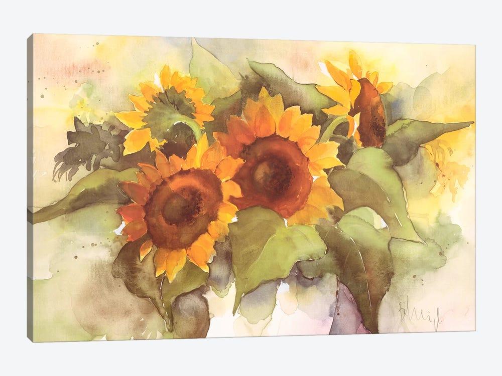 Flower Composition IV by Franz Heigl 1-piece Canvas Art