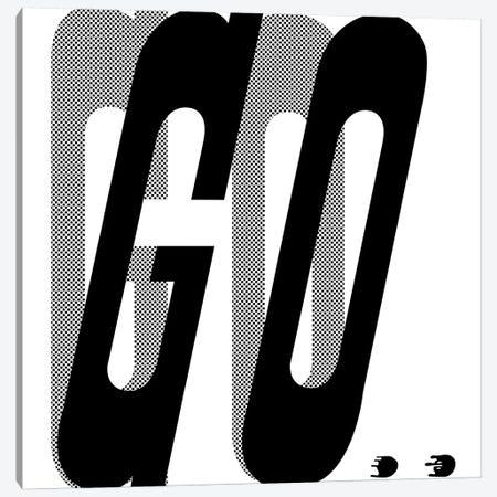 Go Canvas Print #HEM104} by Hemingway Design Canvas Art Print