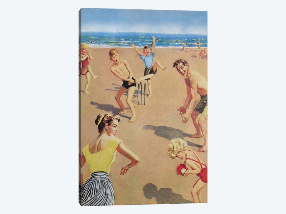 Beach Cricket by Hemingway Design 1-piece Canvas Art Print