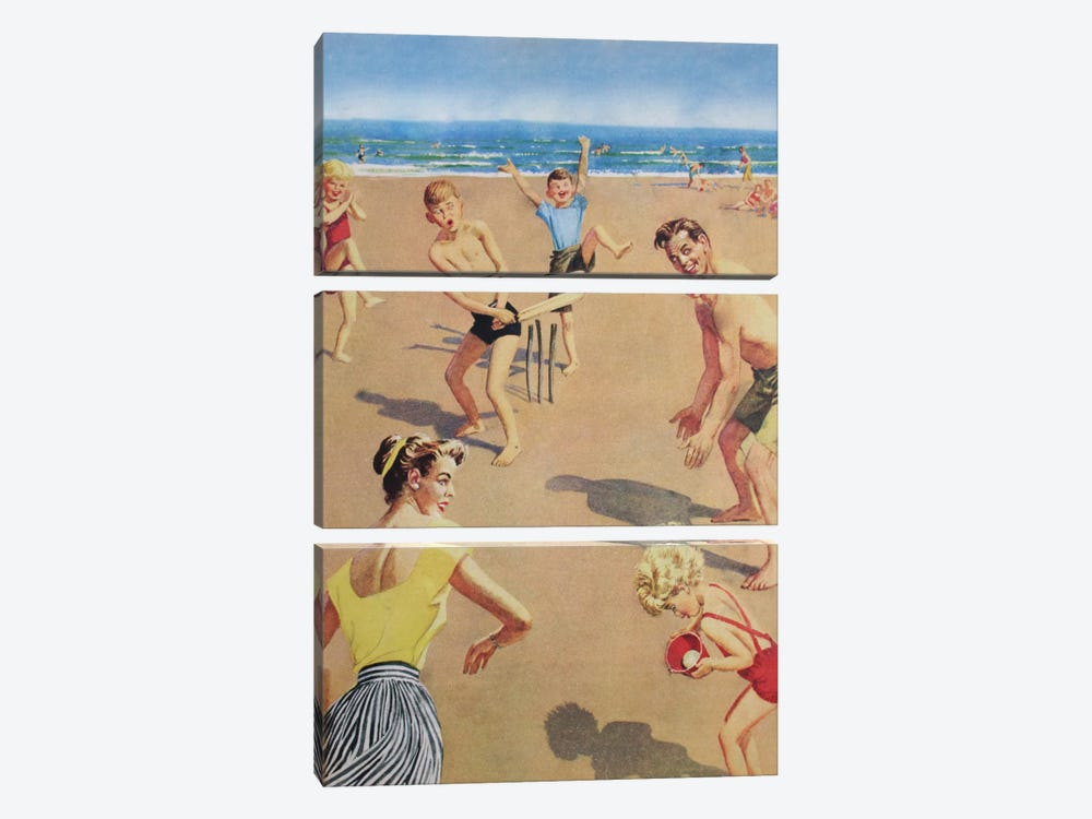Beach Cricket by Hemingway Design 3-piece Art Print