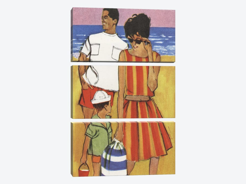 Beach Family by Hemingway Design 3-piece Canvas Art