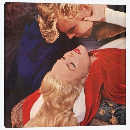 Blonde Kiss Canvas Print #HEM14} by Hemingway Design Canvas Art Print