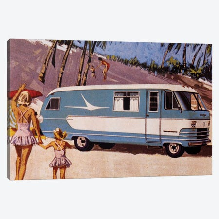 Campervan Craving Canvas Print #HEM17} by Hemingway Design Art Print