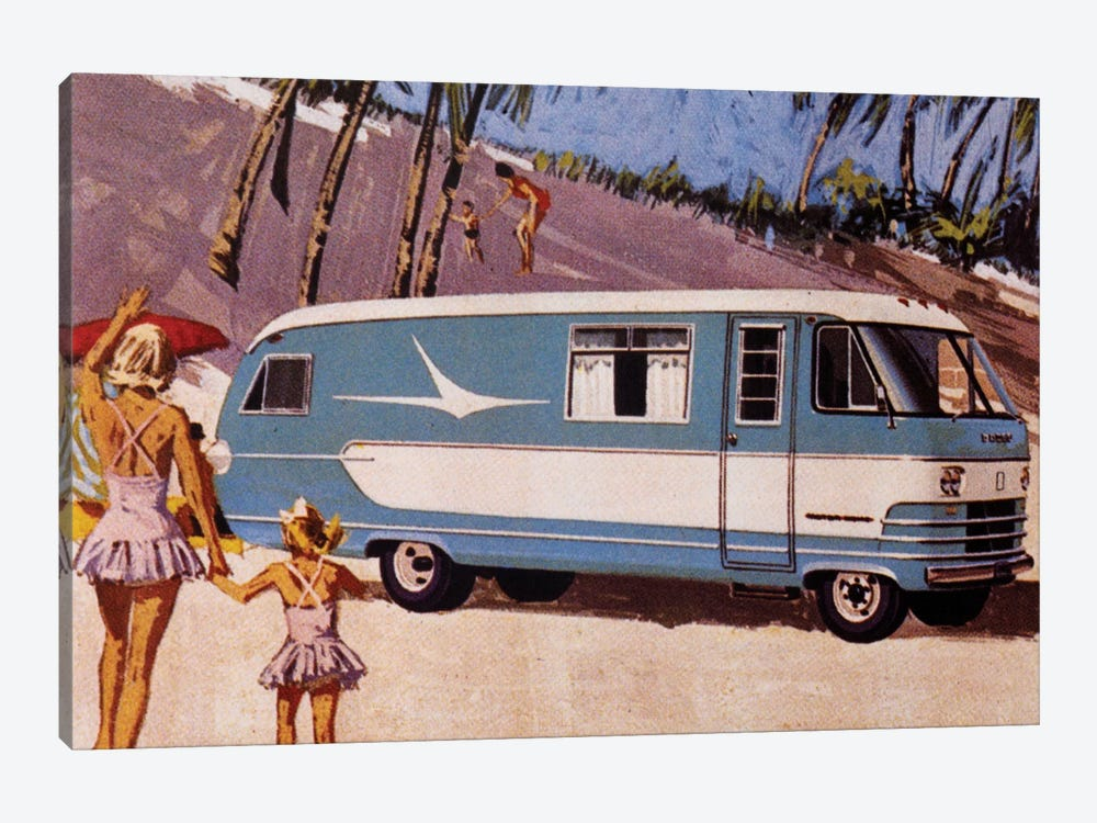 Campervan Craving by Hemingway Design 1-piece Canvas Print