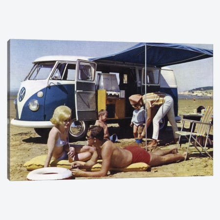 Caravan Family Canvas Print #HEM18} by Hemingway Design Canvas Wall Art