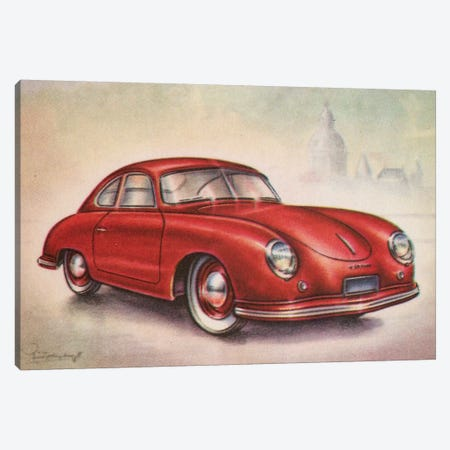 1952 Porsche Canvas Print #HEM1} by Hemingway Design Canvas Artwork