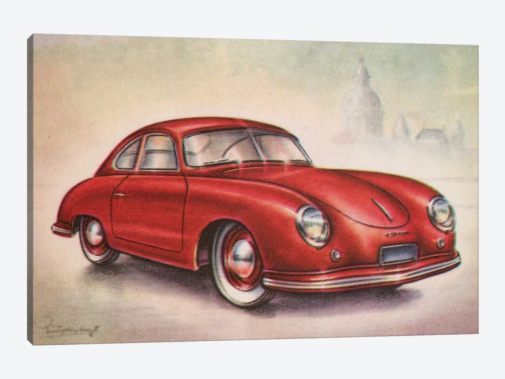 1952 Porsche by Hemingway Design 1-piece Canvas Wall Art