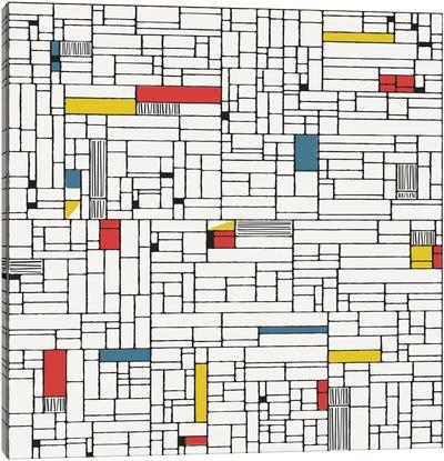 Computer Grid Canvas Art Print