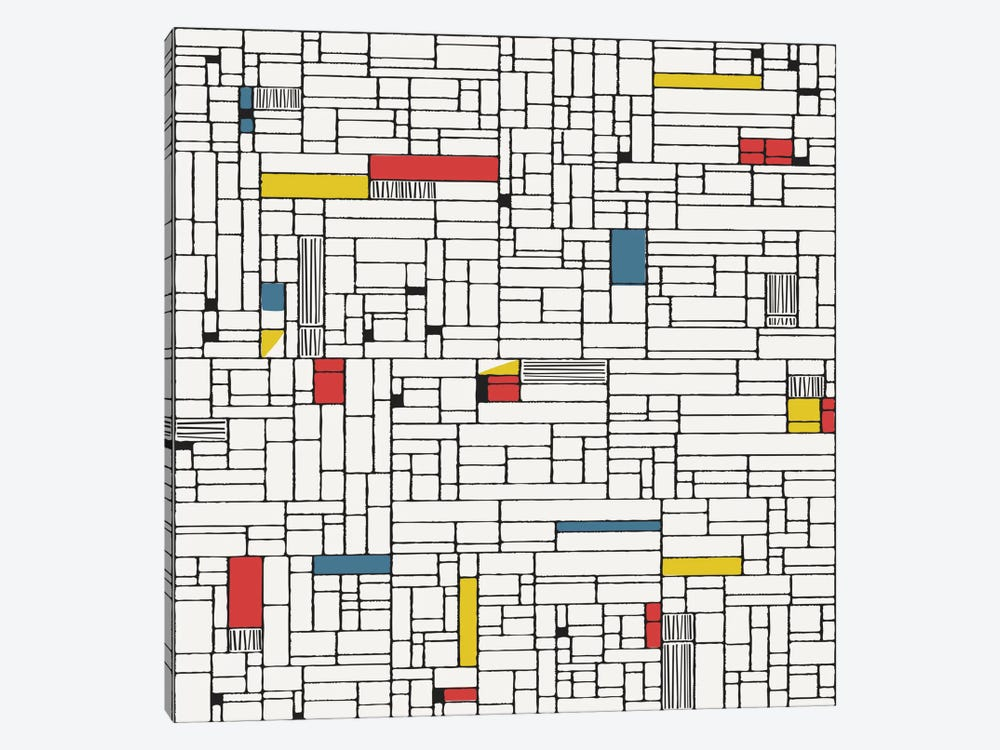 Computer Grid by Hemingway Design 1-piece Canvas Wall Art