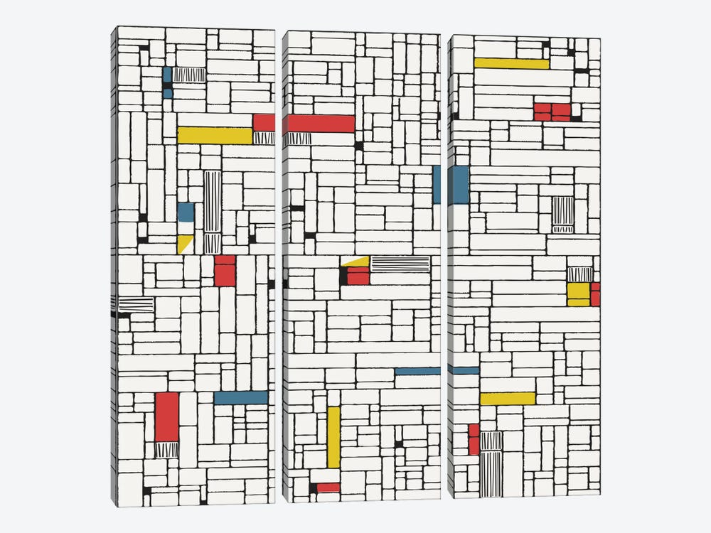 Computer Grid by Hemingway Design 3-piece Canvas Artwork