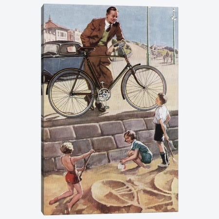 Cycling In The Sand Canvas Print #HEM22} by Hemingway Design Canvas Art Print