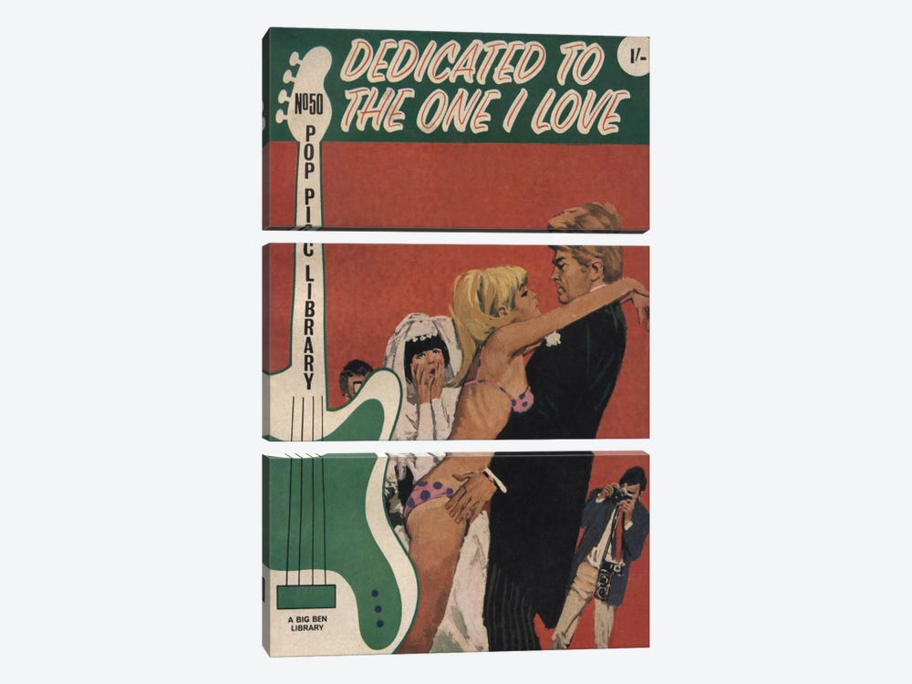 Dedicated To The One I Love by Hemingway Design 3-piece Canvas Wall Art