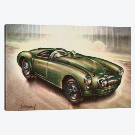 1955 MG Canvas Print #HEM2} by Hemingway Design Canvas Wall Art