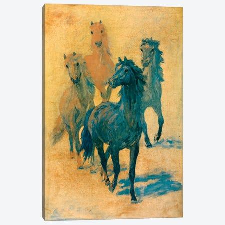 Four Gee-Gees Canvas Print #HEM31} by Hemingway Design Canvas Art