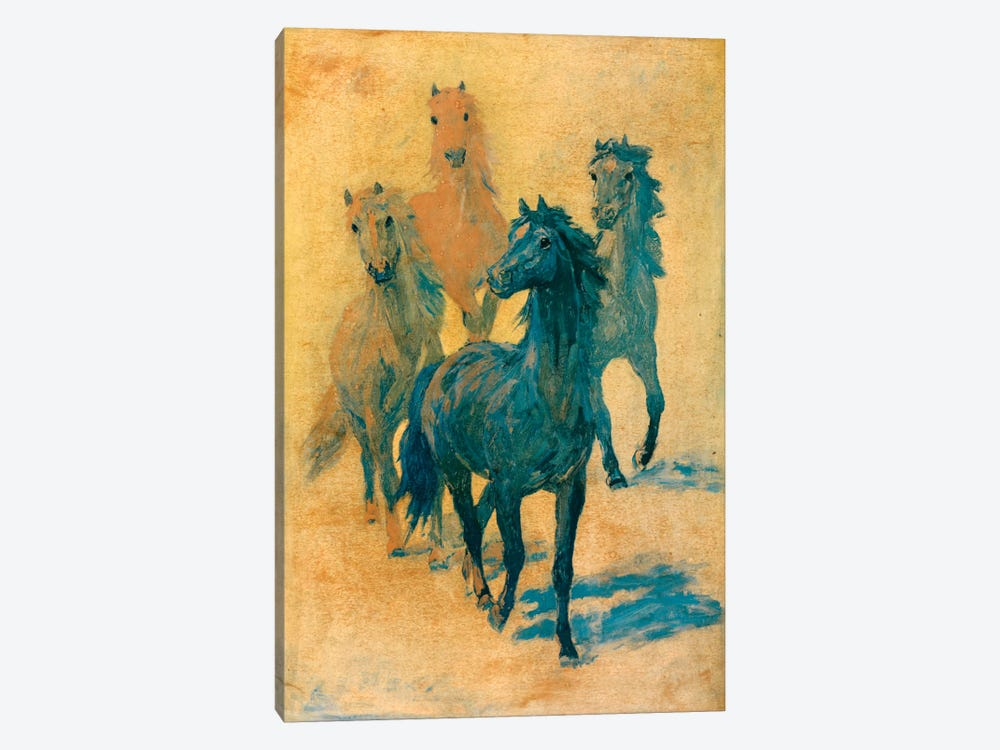 Four Gee-Gees by Hemingway Design 1-piece Canvas Art Print