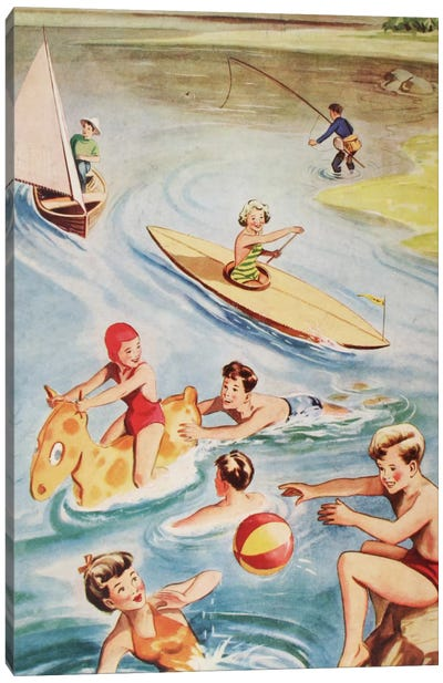 Fun And Frolics Canvas Art Print