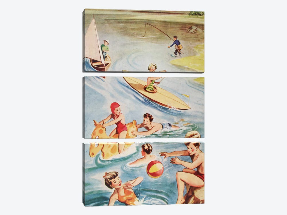 Fun And Frolics by Hemingway Design 3-piece Canvas Artwork