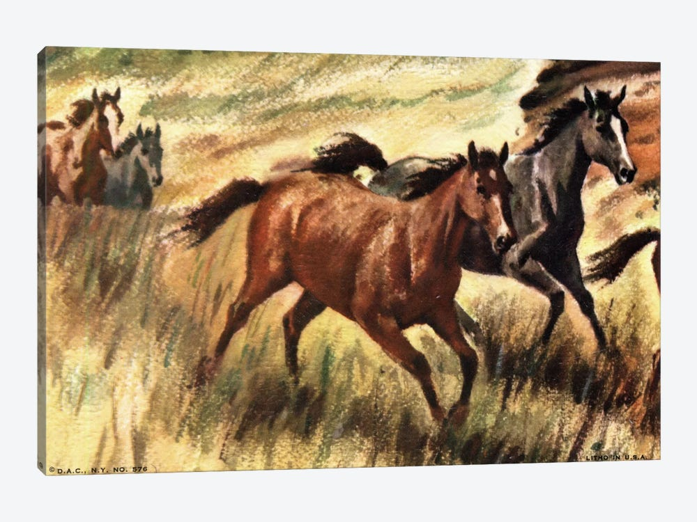 Gee-Gees Go Galloping by Hemingway Design 1-piece Canvas Art