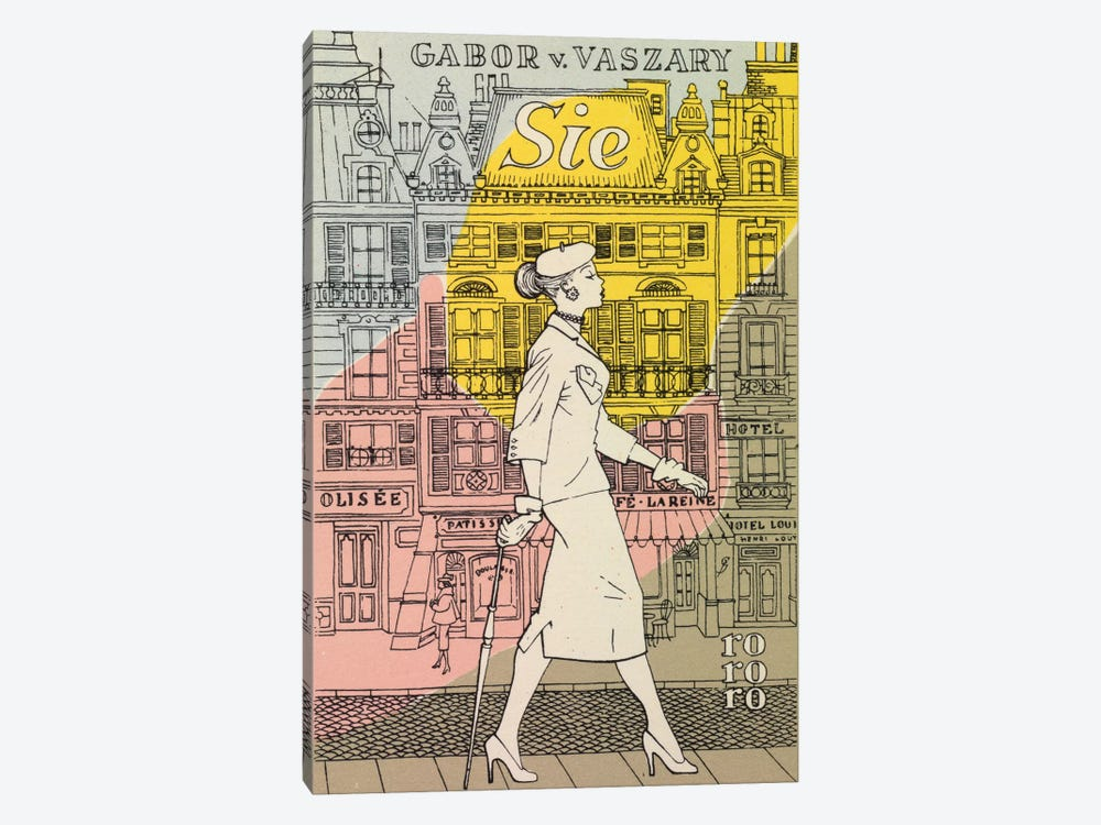 High Street by Hemingway Design 1-piece Canvas Art Print