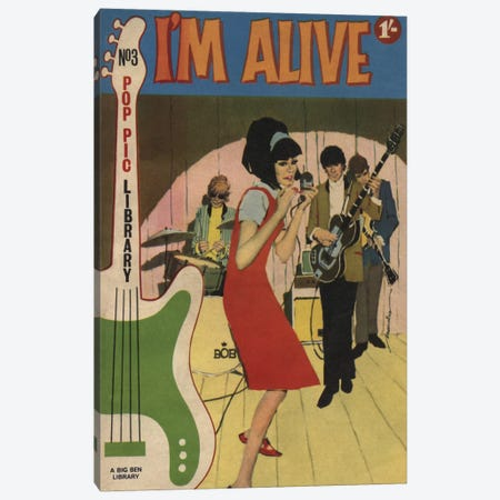 I'm Alive Canvas Print #HEM44} by Hemingway Design Canvas Wall Art