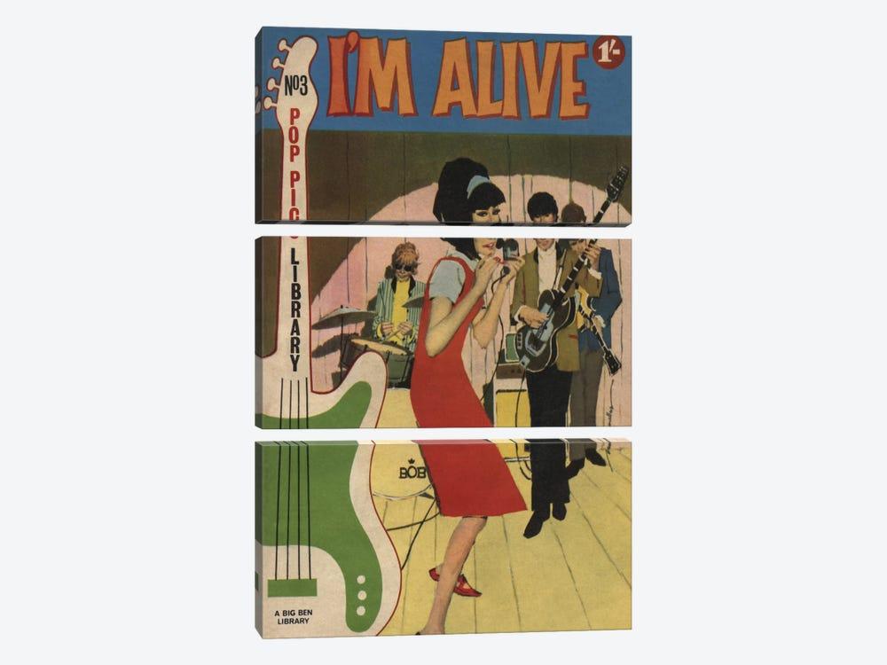 I'm Alive by Hemingway Design 3-piece Canvas Art Print