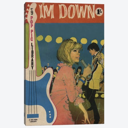 I'm Down Canvas Print #HEM45} by Hemingway Design Canvas Artwork
