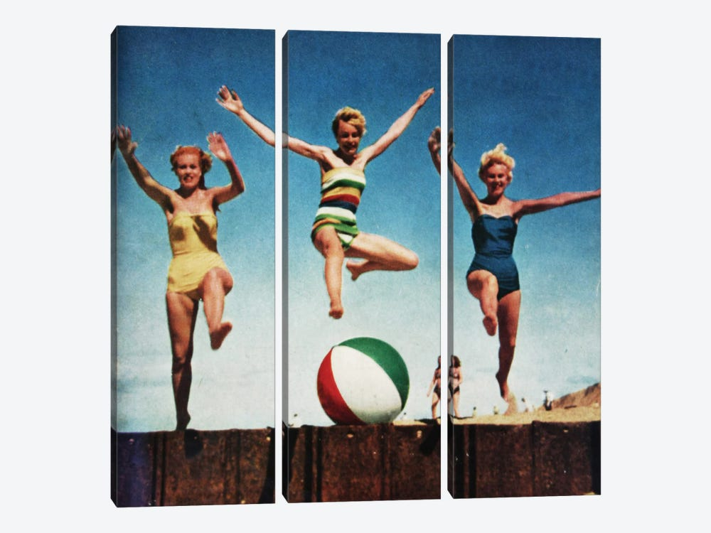 Jumping Girls by Hemingway Design 3-piece Art Print