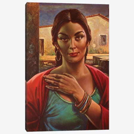 Lalinda The Gipsy Seller Canvas Print #HEM51} by Hemingway Design Canvas Wall Art