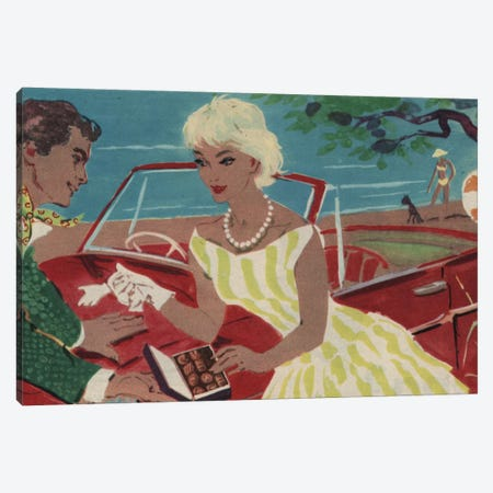 Late Night Drive Canvas Print #HEM52} by Hemingway Design Canvas Art