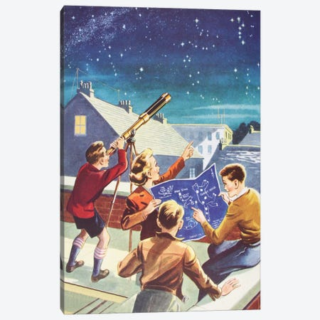 Look At The Stars! Canvas Print #HEM54} by Hemingway Design Canvas Print