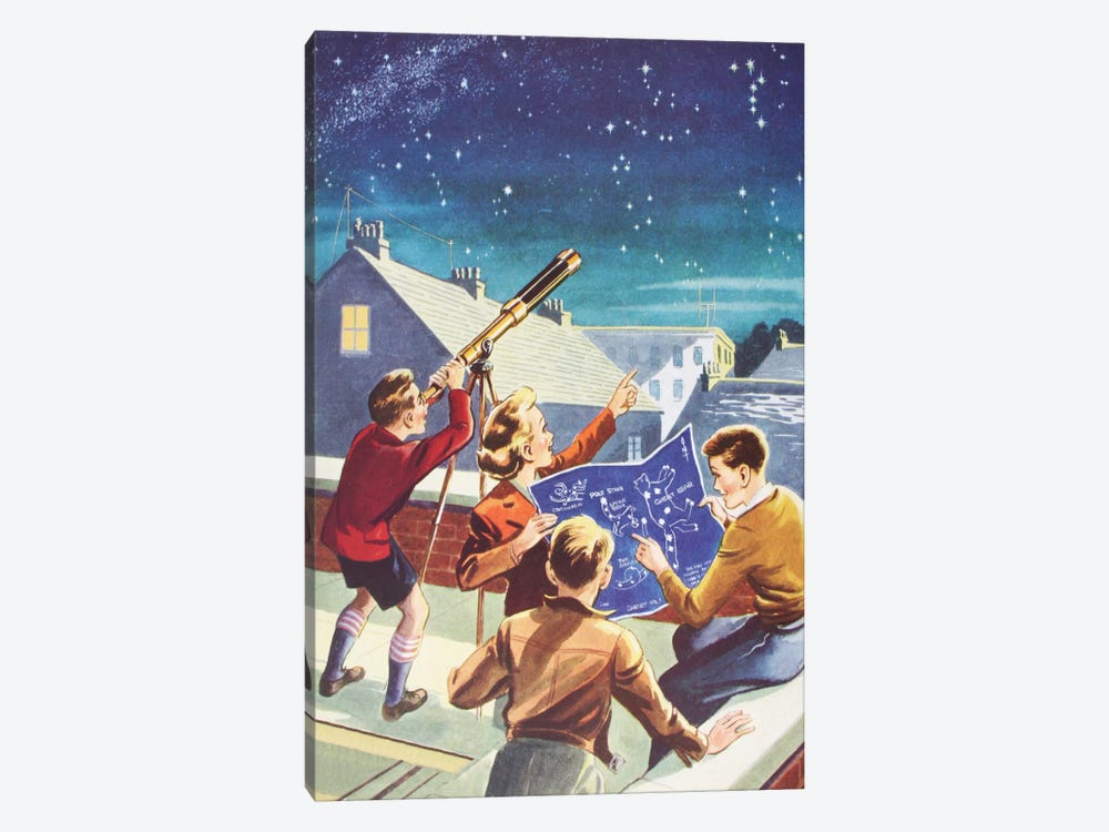 Look At The Stars! by Hemingway Design 1-piece Canvas Wall Art