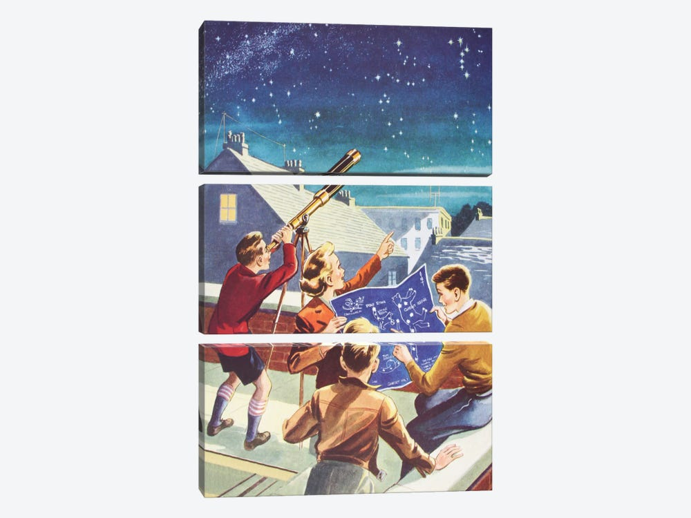 Look At The Stars! by Hemingway Design 3-piece Canvas Artwork