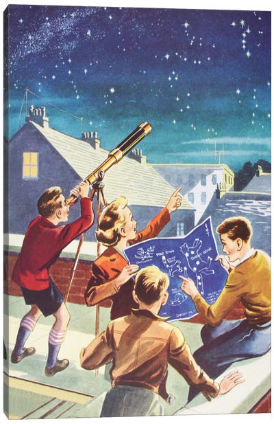 Look At The Stars! Canvas Art Print