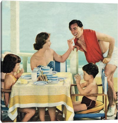 Lunch At The Beach Canvas Art Print