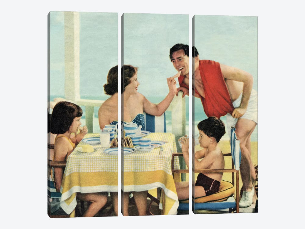 Lunch At The Beach by Hemingway Design 3-piece Canvas Art