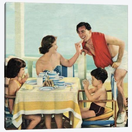 Lunch At The Beach Canvas Print #HEM56} by Hemingway Design Canvas Print