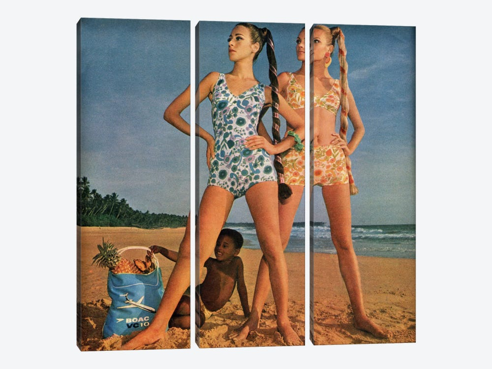 Posing Ladies by Hemingway Design 3-piece Art Print