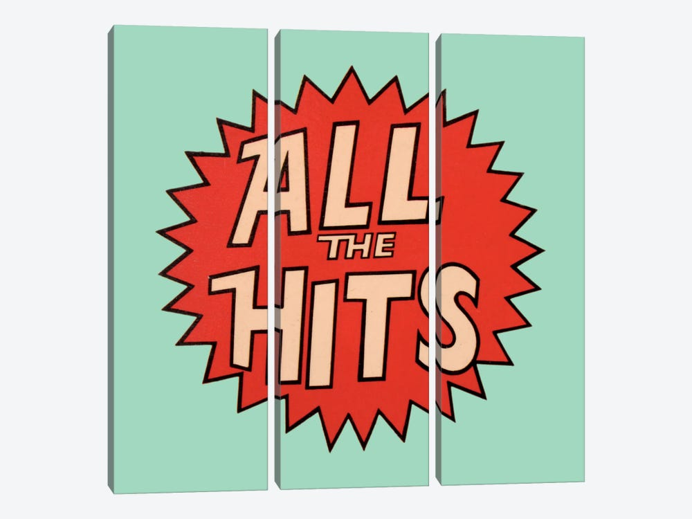 All The Hits by Hemingway Design 3-piece Canvas Print