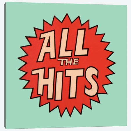 All The Hits Canvas Print #HEM6} by Hemingway Design Canvas Art Print