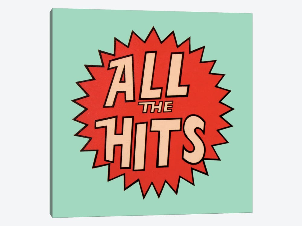 All The Hits by Hemingway Design 1-piece Canvas Art Print