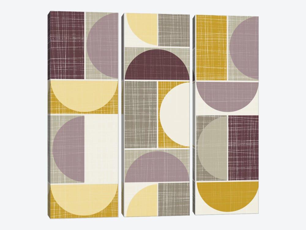 Semi-Circles I by Hemingway Design 3-piece Canvas Artwork