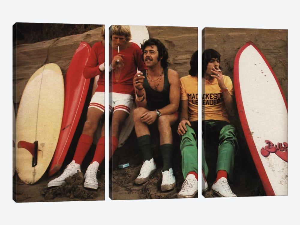 Sitting Surfers by Hemingway Design 3-piece Canvas Wall Art