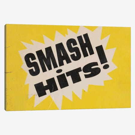 Smash Hits Canvas Print #HEM74} by Hemingway Design Art Print