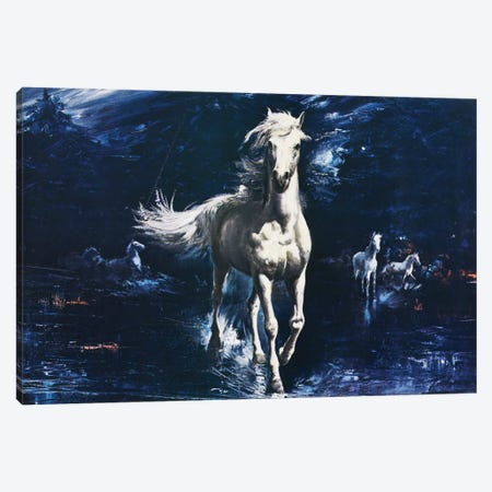Surf Galloper Canvas Print #HEM77} by Hemingway Design Canvas Print