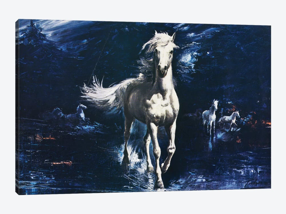 Surf Galloper by Hemingway Design 1-piece Canvas Art Print