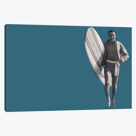 Surfer Dude Canvas Print #HEM78} by Hemingway Design Canvas Artwork