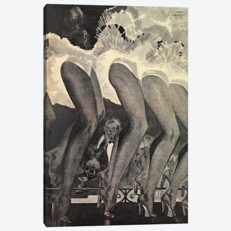 The Legs Of Moulin Rouge Canvas Print #HEM81} by Hemingway Design Canvas Art Print