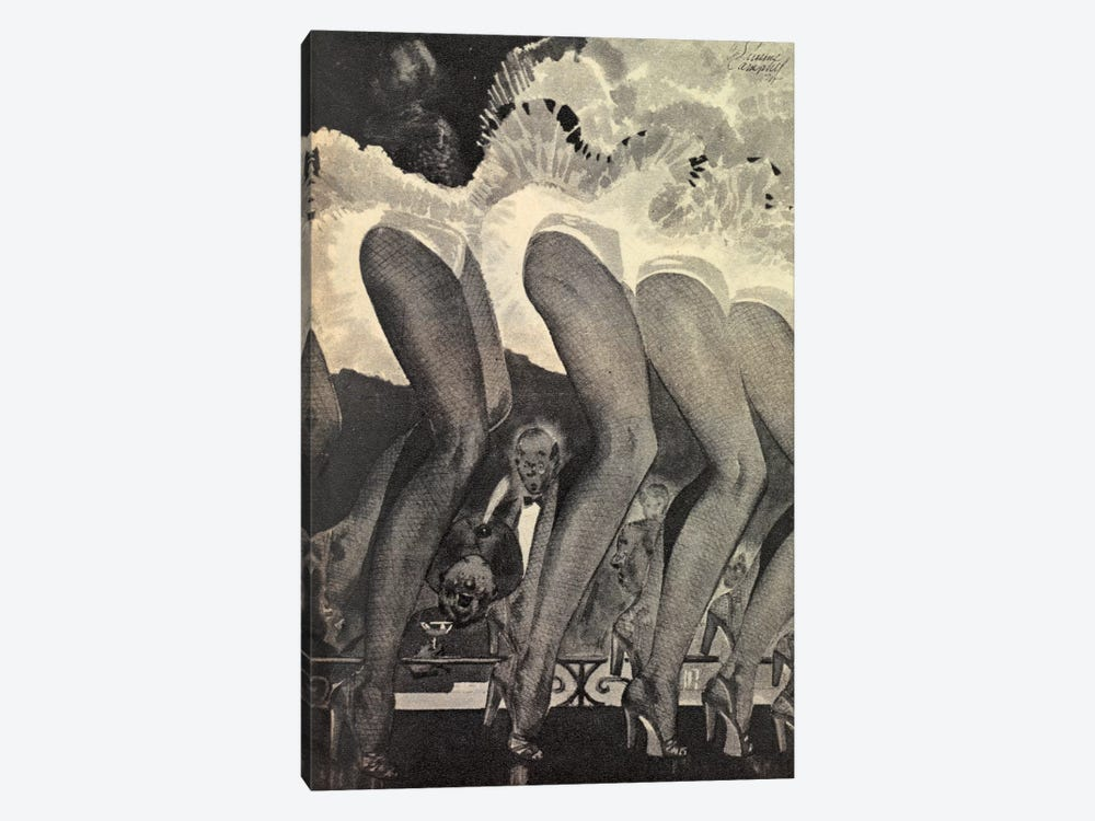 The Legs Of Moulin Rouge by Hemingway Design 1-piece Canvas Artwork