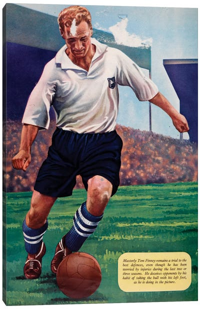 Tom Finney Canvas Print #HEM83